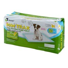 """Richell Paw Trax Pet Training Pads 50 Count White 17.7"""""""" x 23.6"""""""" x 0.2"""""""""""