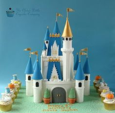 Cinderella Castle Cake - Cake by The Clever Little Cupcake Company