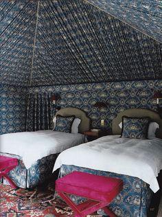 Home Remodel Living Room upholstered walls Tent Bedroom, Bedroom Decor, Blue Home Decor, Cheap Home Decor, Rearranging Bedroom, Upholstered Walls, World Of Interiors, Blue Interiors, Living Room Remodel