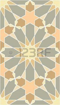 ISLAMIC BORDER: Modelo inconsútil del Arabesque, stock vector, uso para el fondo de azulejos, de color