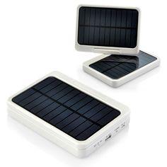 7000mAh Solar Power Bank LED Light Solar Charger 2x Solar Panels 4x Connectors
