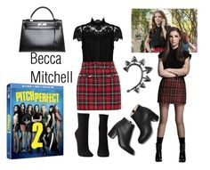 """Becca Mitchell"" by jbgrll247-anon ❤ liked on Polyvore featuring Paul Andrew, Alice + Olivia, Filles à papa, Rachel Entwistle, Charlotte Russe, Hermès and pitchperfect2"