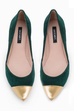 Emerald + Gold Flats // #SicEm