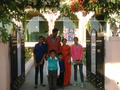 The Soni Family, Jaipur India...Laxmi and Hem and their 4 children, Anshu, Nandaine, and 2 sons Monkey 1 and Monkey 2 :)