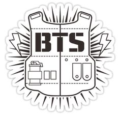 """BTS - Bangtan Boys"" Stickers by drdv02 