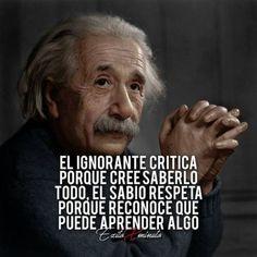 Inspirational Phrases, Motivational Phrases, The Success Club, Quotes En Espanol, Smart Quotes, Albert Einstein Quotes, Typography Quotes, Spanish Quotes, Sentences