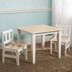 NEW DELTA CHILDREN NATURAL KIDS WOODEN TABLE & CHAIRS SET FOR BEDROOM / PLAYROOM  | eBay