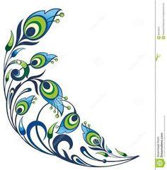 ombre peacock art - Google Search