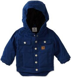 Amazon.com: Carhartt Baby-boys Infant Rancher Quilted Flannel Lined Jacket: Clothing