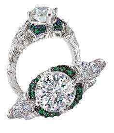 Green tsavorite engagement ring from Love My Romance.
