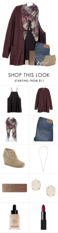 """Somewhere someone is looking for exactly what you have to offer."" by bloom17 ❤ liked on Polyvore featuring H&M, Abercrombie & Fitch, TOMS, Kendra Scott, Urban Decay, Giorgio Armani, NARS Cosmetics, women's clothing, women's fashion and women"