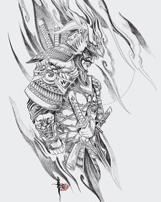 Warrior Tattoo Sleeve, Samurai Tattoo Sleeve, Samurai Warrior Tattoo, Wolf Tattoo Sleeve, Warrior Tattoos, Best Sleeve Tattoos, Tattoo Sleeve Designs, Japan Tattoo Design, Sketch Tattoo Design
