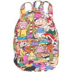 90S CARTOON BACKPACK (270 BRL) ❤ liked on Polyvore featuring bags, backpacks, backpack, bags // purses, cartoon character backpacks, canvas knapsack, canvas bag, canvas rucksack and lightweight backpack