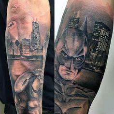 Men's Batman Tattoo on Arm