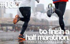 To finish my 2nd Half marathon! :) #bucketlist #hope #train my motivation!!