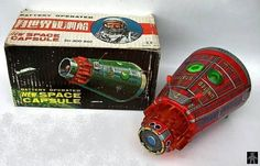 Space Capsules - NEW SPACE CAPSULE RED VERSION - HORIKAWA - JAPAN - ALPHADROME ROBOT AND SPACE TOY DATABASE