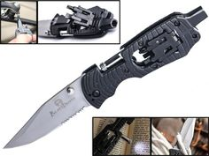 Upgraded Multi-Tool Flashlight Screwdriver Knife : Multi use Multipurpose Multi-function Tactical Folding Survival Pocket Knife LED Torch Philips Hex Nut Strait Slot Star Driver Lifetime Guarantee *** Check this awesome product by going to the link at the image.