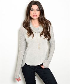 Knit Two-Tone Sweater - Kevra Boutique*