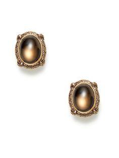 Smokey Quartz Oval Earrings by Stephen Dweck