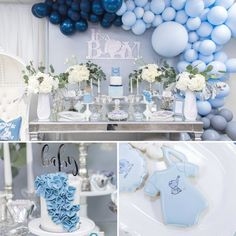 Blue And Silver Elephant Baby Shower decorations, Blue And Silver Elephant Baby Shower ideas, Blue And Silver Elephant Baby Shower theme, invitations