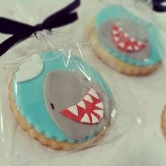 buttercookies for shark bday. Made by me