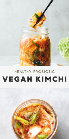 Vegan Kimchi - Step by Step Recipe - The Simple Veganista Vegan Kimchi – Tangy and delicious, this a Vegan Kimchi Recipe, Clean Eating Vegetarian, Recipes With Kimchi, Low Fat Vegan Recipes, Whole Food Recipes, Vegetarian Recipes, Healthy Recipes, Recipes, Vegans
