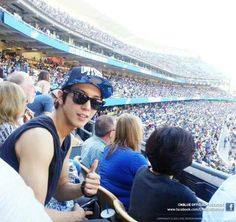 jung yong hwa from LA ‪#‎DogersStadium