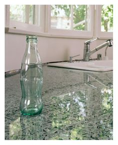 Recycled glass bottle counter top @cboykin0802
