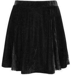 #Topshop                  #Skirt                    #Lace #Velvet #Skater #Skirt #Skirts #Clothing      Lace Velvet Skater Skirt - Skirts - Clothing                                  http://www.seapai.com/product.aspx?PID=366581