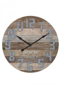 Wooden Clock, Statement Clock, Huge Wall Clock