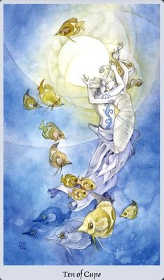 #Tarot - Ten of Cups - The Ten of Cups is the final attainment of serenity and peace. Success and happiness have been granted at last—an all-encompassing emotional contentment, not just a physical or material pleasure. Family / Friends support and bonds are important to being able to enjoy the blessings of life.   If you're reading this it's for you Tarot Hotties. #ShadowscapesTarot #TarotReadings #TarotLove #Intuition #Inspirations #Divination #tarotcardoftheday #littleshopoftarot…
