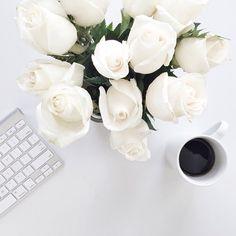 Black Coffee & Blooms ...I adore!