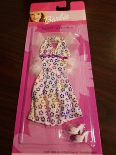 Barbie Doll Blue Satin Party Dress With Matching Shoes Mattel 2001 on Card for sale online Barbie Dog, Mattel Barbie, Barbie And Ken, Vintage Barbie, Vintage Dolls, American Girl Furniture, Barbie Doll Accessories, Barbie Party, Beautiful Barbie Dolls