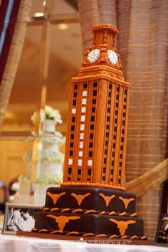 The groom bleeds burnt orange--and loves chocolate!