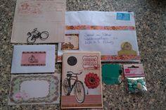 Abc snailmail letter F van Fiets