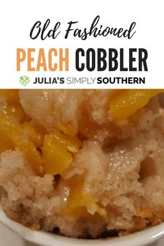 Classic old fashioned Southern peach cobbler dessert made with the freshest summer peaches Southern Peach Cobbler, Old Fashioned Peach Cobbler, Summer Recipes, Fall Recipes, Indian Food Recipes, Sweets Recipes, Pie Recipes, Holiday Recipes, Cooking Recipes