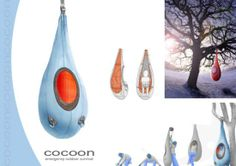 "John Moriarty has designed an emergency outdoor survival shelter called ""Cocoon"". His idea is to provide emergency refuge in a tree by suspending a fabric enclosure from a branch and crawling in. Survival Gadgets, Survival Tips, Survival Essentials, Urban Survival, Survival Skills, Cool Inventions, Outdoor Survival, Camping Equipment, Shopping"