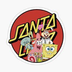 Logo Sticker, Sticker Design, Santa Cruz Stickers, Santa Cruz Logo, Plastic Stickers, Hand Logo, Decorate Notebook, Spongebob Squarepants, Transparent Stickers
