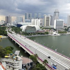 Singapore City view near mouth of Singapore River