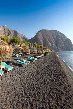 Perissa Beach, Santorini, Greece - Travel
