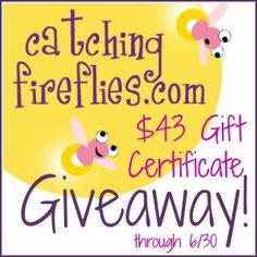 Nice Giveaway at Happy Hour Projects. Catching Fireflies is giving away a $45.00 GC away!