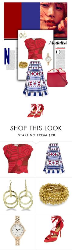 """""""Style with Embroidered Skirt and Double Hoop Earrings"""" by modalist on Polyvore featuring Rachel Comey, Vita Kin, Marc Jacobs, Schutz and Marni"""