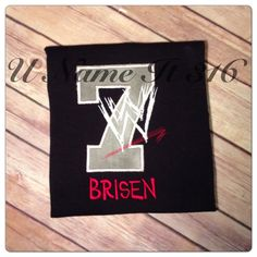 Hey, I found this really awesome Etsy listing at https://www.etsy.com/listing/188155455/wwe-birthday-shirt-in-black