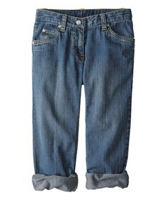 Look what I found on #zulily! Vintage Denim Boyfriend Jeans - Girls by Hanna Andersson #zulilyfinds