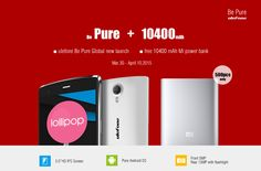 Ulefone Be Pure 5.0 inch Android 4.4 MTK6592M Octa-core Smartphone During the pre-order time, order the Ulefone Be Pure mobile phone, get a free original Xiaomi 10400mAh power bank