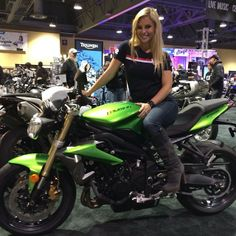 Triumph Motorcycle - @Motorcycle Shows Long Beach with @cristylee09 on the Street Triple..stop by if y
