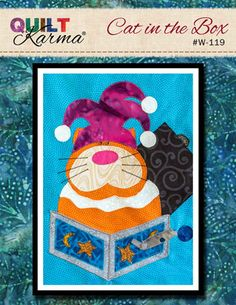Quilt Pattern - Cat in the Box Applique - Quilt Karma