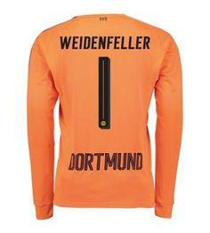Billiga Dortmund Målvakt Roman Weidenfeller 1 Bortatröja 17-18 Långärmad Messi, Manchester United, Ronaldo, Graphic Sweatshirt, Sweatshirts, Sweaters, Fashion, Goaltender, Leotards