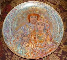 Edna Hibel the Wedding of David and Bathsheba Collector Plate ** Don't get left behind, see this great  product : Commemorative Plates
