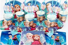 disney frozen party birthday 82 pieces $65.00